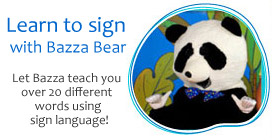 Learn to sign with Bazza Bear